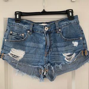 Bullhead Slouchy Denim Jean Shorts